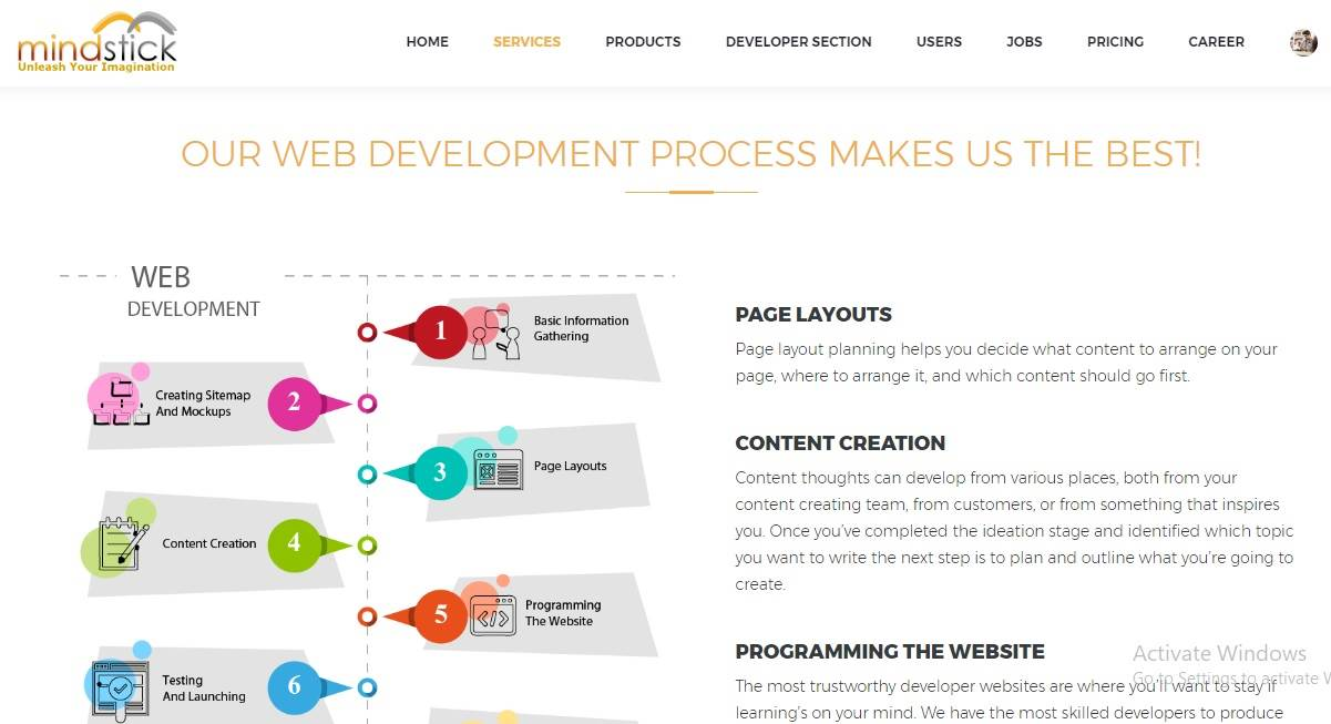 Does MindStick develops and maintain Web Development services?