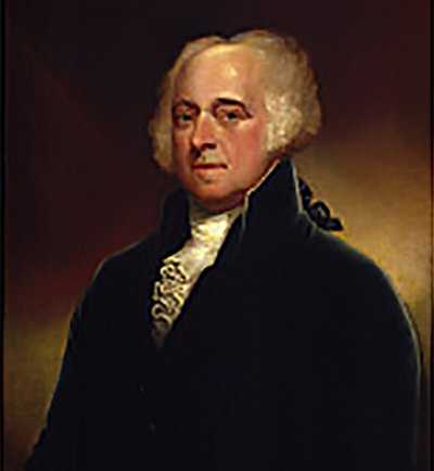 Which American President was responsible for drafting the Massachusetts Constitution?