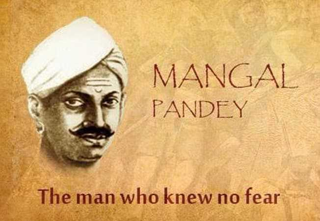 Which place witnessed the incident of Mangal Pandey firing upon British officers?