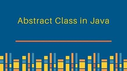 Why  abstract class are used in Java?