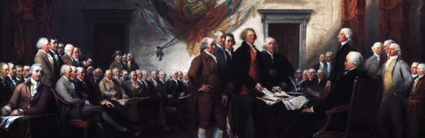 How many men signed the Declaration of Independence in 1776?