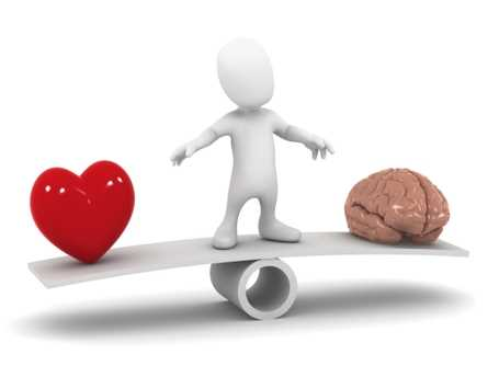 How would you differentiate between a voice is coming from  heart or brain ?