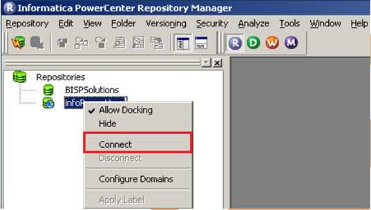 How to Configure Client and Repository in Informatica power center?