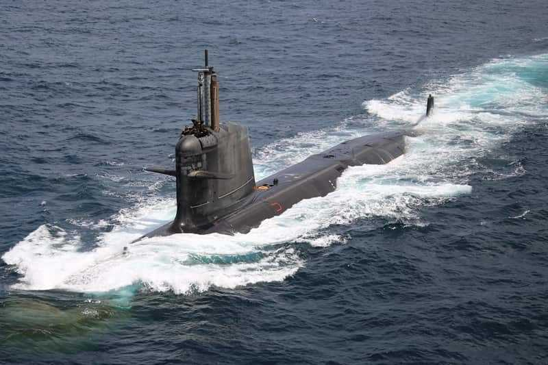 What is the name of first Made-In-India Scorpene Class non-nuclear Submarine which was inducted into Indian Navy on 14th December 2017?