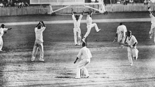 When was the first cricket test match played?