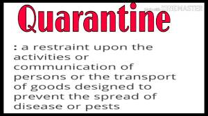 what is the meaning of quarantine