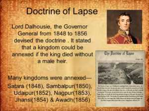 Which state was the first to be annexed by the Doctrine of Lapse?