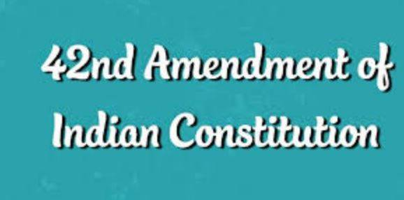 Which Constitutional Amendment is called Mini Constitution?