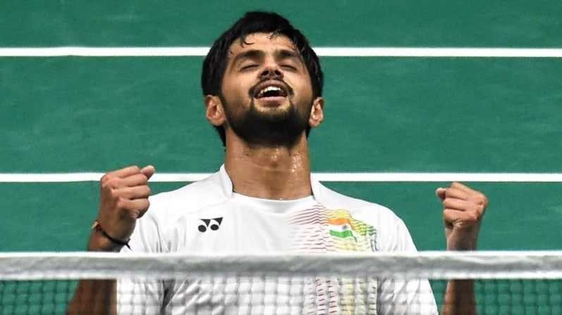 B Sai Praneeth clinched which badminton title by defeating Indonesia?