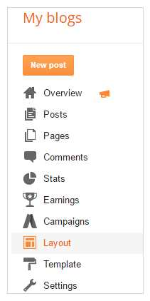 How do I add social sites on Blogger?
