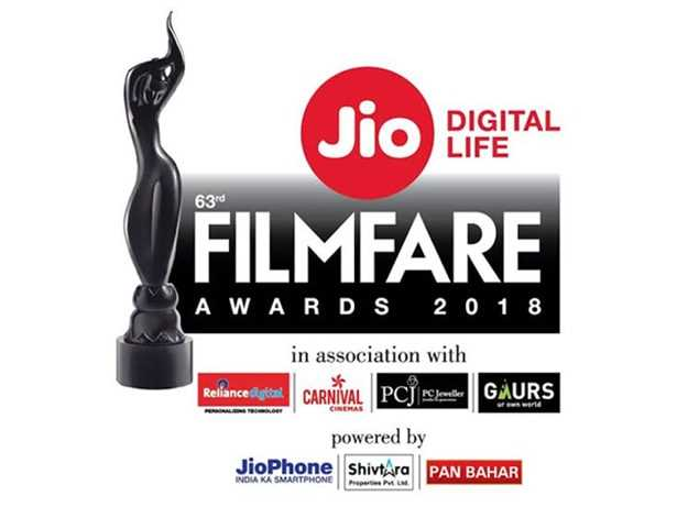 Which film won the Best Film Award at the 63rd Jio Filmfare Awards 2018?