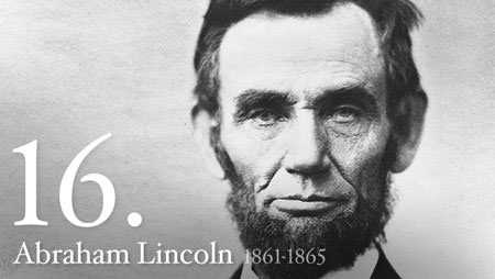 During which years did Abraham Lincoln serve as President?