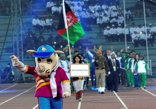 What is the mascot of the 2016 South Asian Games?