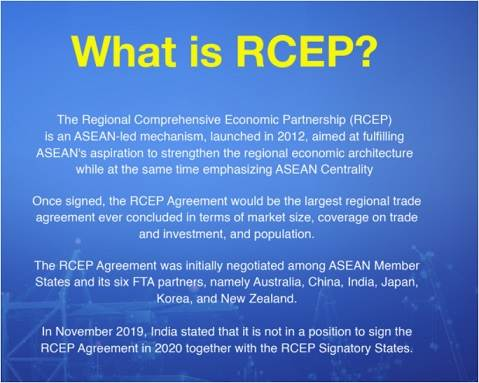 What is the Role of China in RCEP ?