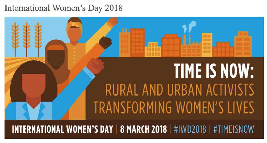 What is the theme of the 2018 International Women's Day (IWD)?