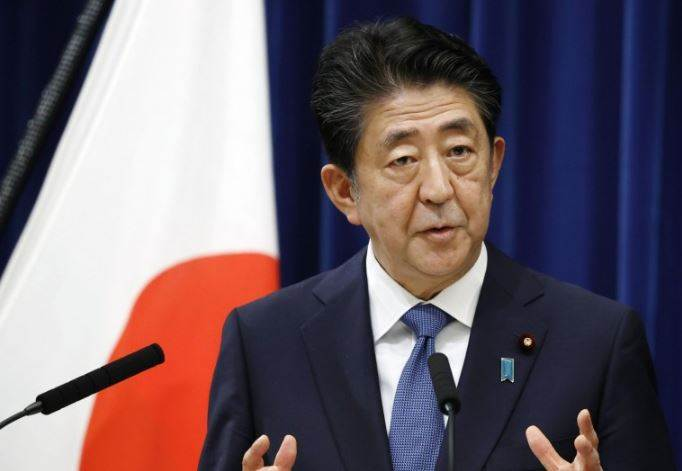 Why did former Prime Minister of Japan shinzo abe leave his post?