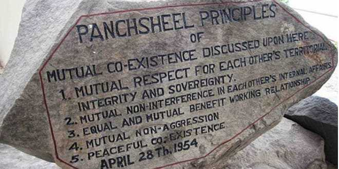Where were the principles of Panchsheel regulated ?